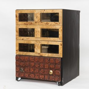 Ron Hitchins chest of drawers (48cm x 48cm x 68cm)